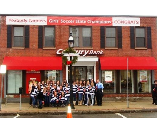 Girls' soccer team celebrates title
