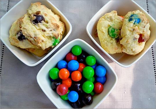 Pretzel M&M cake mix cookies
