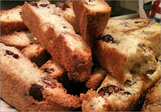 Cranberry and walnut biscotti