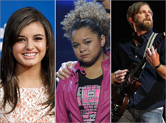 Rebecca Black, Rachel Crow, Caleb Followill
