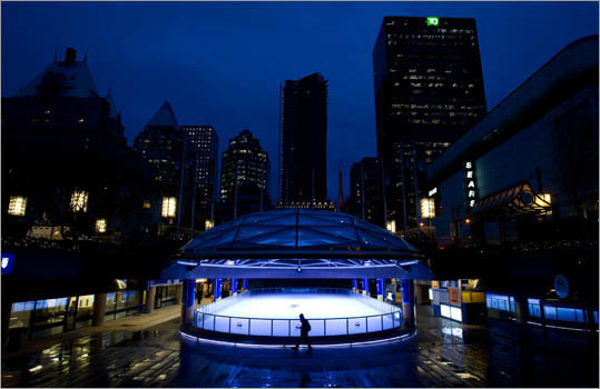 14. Canada Minimum vacation: 10 days Public holidays: 9 Vacation varies by province (shown is the number for Ontario). Pictured: An ice skating rink in downtown Vancouver .