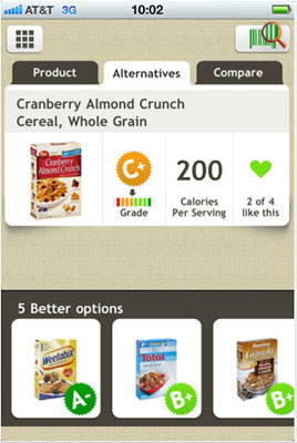 Fooducate Fooducate lets you scan the barcode on food products in the United States to get a quick health grade from A to F. Price: Free.