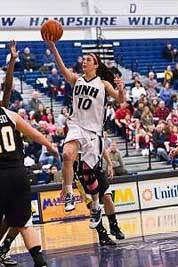 Back from injuries, she's soaring for UNH