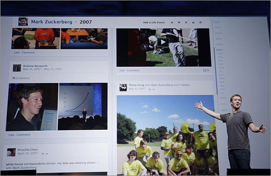 More on the stream The timeline stream is your life on Facebook in reverse chronological order. At the top are your recent status updates, comments, photos, and events. As you scroll down, you'll get highlights from last month, then earlier in the year and previous years. Click one of the 'Show' links to get all posts from a particular month or year. Keep in mind that people could have seen many of those posts before by continually hitting 'Older Posts.' The difference is most people wouldn't bother. With Timeline, you can jump more quickly to older posts.