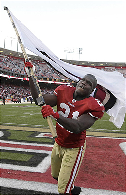 The San Francisco 49ers were 13-3 this season with running back Frank Gore grinding out 1,211 rushing yards. The team ranked eighth in rushing yards per game, but even better on defense. They were first in the league in fewest points allowed per game with 14.3. San Francisco will play either New Orleans, Atlanta, or New York.