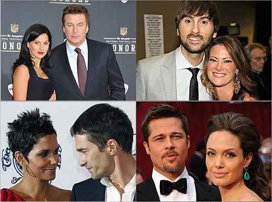 Alec Baldwin, Dave Haywood, Halle Berry, Olivier Martinez, Brad Pitt, Angelina Jolie