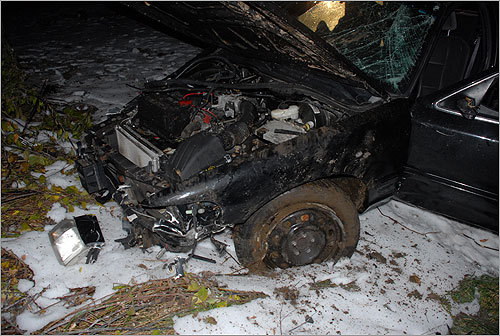 "Murray was driving 100 miles per hour, without a seat belt, possibly because he had fallen asleep behind the wheel in the moments before he totaled his state-owned car, according to a Massachusetts State Police investigation of the car's ""black box"" data released Jan. 3."