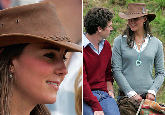 Middleton showed off her casual style in a sage green v-neck during the second day of the Gatcombe Park Festival of British Eventing at Gatcombe Park, on Aug. 6, 2005.