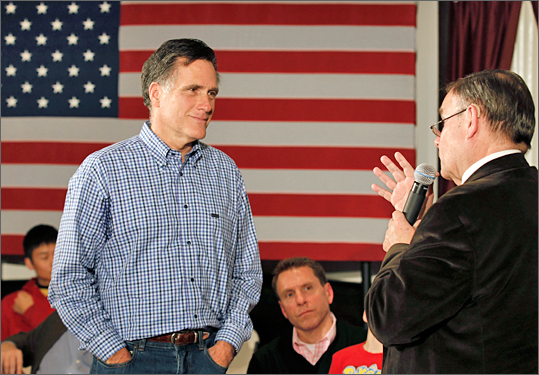 Another classic American-bred choice by Romney during his campaign stop at VFW Post 8641 in Merrimack, N.H. on Dec. 30.