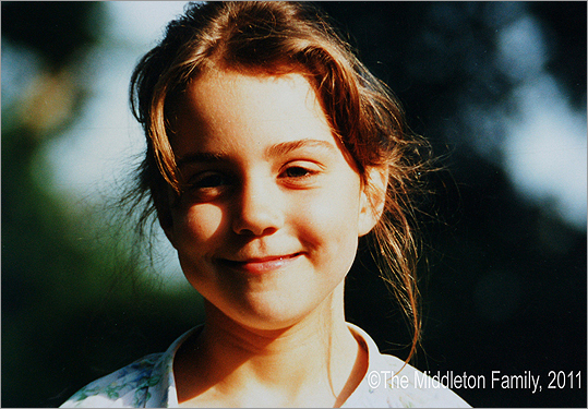 Kate Middleton as a young girl