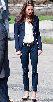Middleton in J Brand jeans