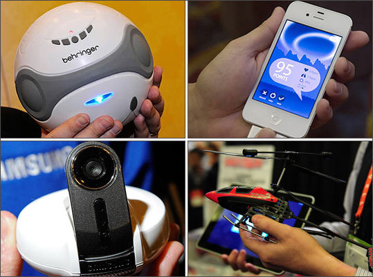 All kinds of gadgets and gizmos including Wi-Fi baby monitors and a Bluetooth pool speaker have been unveiled at the 2012 Consumer Electronics Show in Las Vegas. Take a look at what new gadgets you will be able buy in the coming year and beyond.