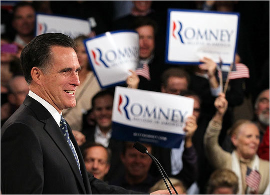 Mitt Romney won the N.H. primary by a clear margin, vaulting him closer to the Republican presidential nomination. Throughout the day voters in New Hampshire turned up to cast their ballots in the nation's first primary. Click through to see scenes from the New Hampshire primary.