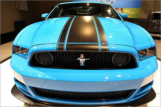 The new Mustang Boss 302 was on display at this year's New England International Auto Show.
