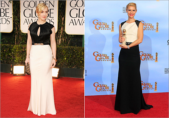Kate Winslet and Claire Danes at the 2012 Golden Globes