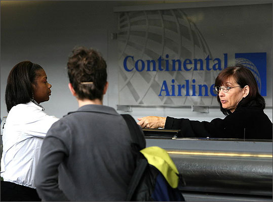 Disclosure of baggage fees when passengers book a flight After waiting in a long line to drop off luggage, fliers have been hit with fees they might not know about until the counter. Now, airlines must disclose baggage fees when reservations are made. For example, if you're flying within the continental United States but not a member with Continental Airlines , the first checked bag costs $25, and it's $35 for the second.