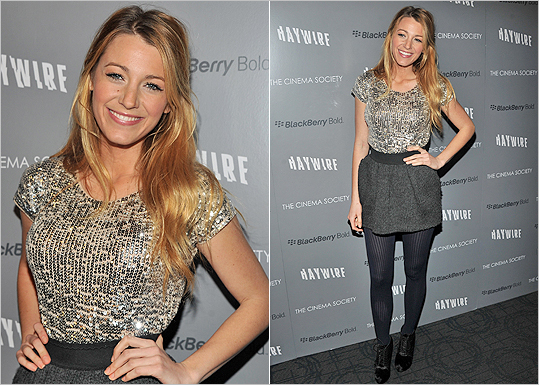 Blake Lively in Dolce & Gabbana at Haywire screening