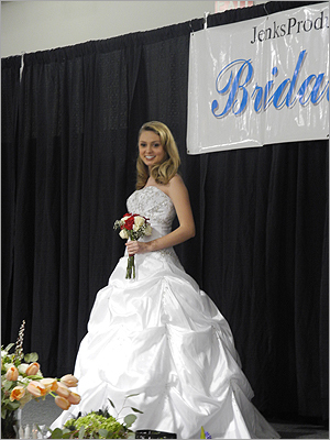 Models showed off wedding dresses from La Scala Bridal Shoppe in a bridal fashion show.