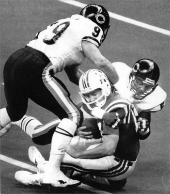 Super Bowl XX: Bears 46, Patriots 10 The Cinderella season Patriots were steamrolled by head coach Mike Ditka's Bears in this Jan. 23, 1986, contest, the first Super Bowl appearance for New England. After failing to complete a pass, quarterback Tony Eason was replaced by Steve Grogan, who wasn't able to turn the game around. In the end, the Chicago defense, including Richard Dent and William 'Refrigerator' Perry, proved too tough a match for New England. And the Patriots defense could not stop Bears quarterback Jim McMahon's offense.