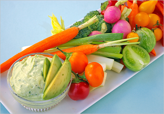 Think of it as a smoother, more tangy version of guacamole. And you need something to dip all those carrot sticks you bought in anyway. <a href=' http://www.boston.com/lifestyle/food/articles/2010/10/20/recipe_for_creamy_avocado_dip/' target='_target'>Recipe: Creamy avocado dip.