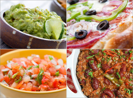 "According to the National Restaurant Association, salsa, dips, pizza, salads, and healthful foods were among the ""must have foods"" on Super Bowl Sunday. These and other crowd pleasers are actually ""super foods,"" that is, foods that taste yummy but are also good for your health, according to Joan Salge Blake, our Nutrition and You blogger. Kick off your super bowl party with these super foods..."