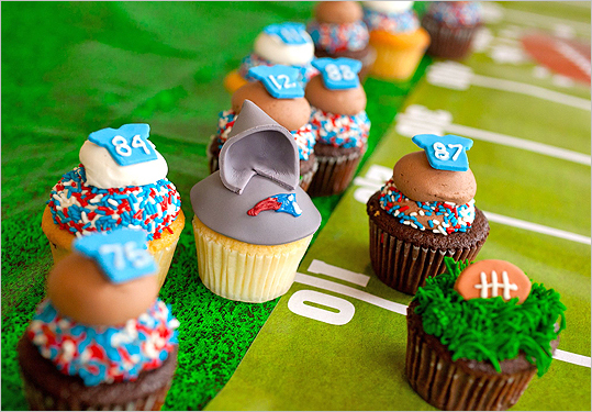 Patriots cupcakes at Sweet