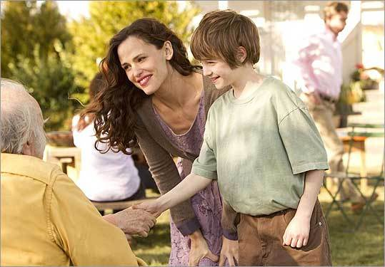 Cameron 'CJ' Adams, right, and Jennifer Garner in a scene from 'The Odd Life Of Timothy Green.'