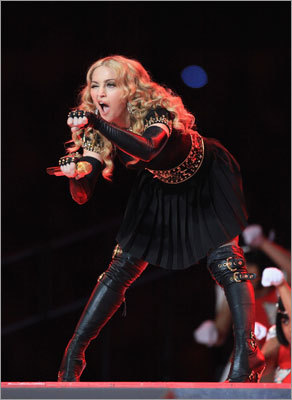 Madonna played to the audience during her show.