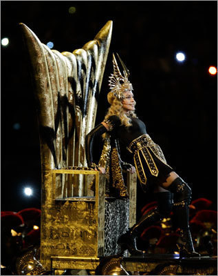 Madonna went through several costume changes during the wide-ranging performance.