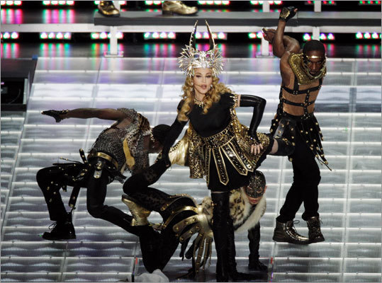 Madonna's show ran through many of her classic songs, such as 'Vogue' and 'Like A Prayer.'