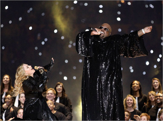 Cee Lo Green joined the Queen of Pop for a rousing version of 'Like A Prayer.'