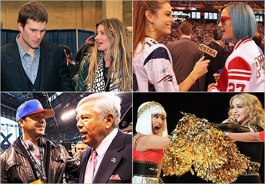With the Super Bowl's takeover of Indy, celebs were spotted all over the place. Check out celebrity sightings before and after the show, and pictures from Madonna's halftime performance.