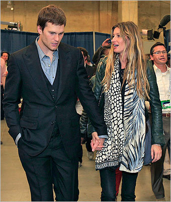 Gisele and Tom Brady at Super Bowl