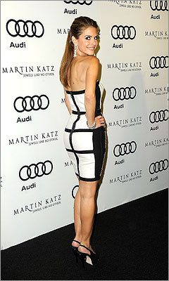 Menounos attended Audi Celebrates the 2012 Golden Globe Awards in West Hollywood on Jan. 8.