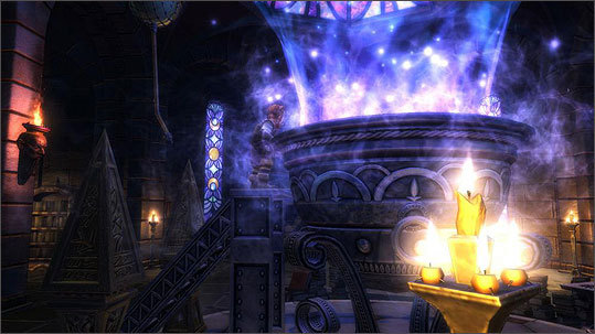 Places in the world include a well of souls and other types of magic rooms. The game costs $60 and plays on Sony Corp's. PlayStation 3 game console, Microsoft Corp.'s Xbox 360, and personal computers running the Windows operating system.