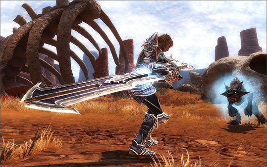 In 'Kingdoms of Amalur: Reckoning,' you can collect and use a variety of weapons.