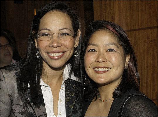 Feb. 7 in Boston From left: Board members Claudia Lavin of Brookline and Atsuko Koyama of Allston.