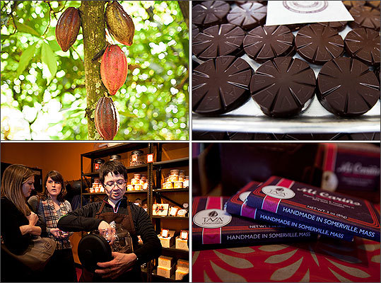 Taza Chocolate is one of the few companies in the country to produce chocolate from cocoa bean to bar. To prepare for Valentine's Day, the Somerville company has significantly increased its production in the past couple weeks. Here's a look at how Taza described its chocolate-making process.
