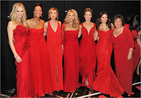 Backstage at Red Dress 2012