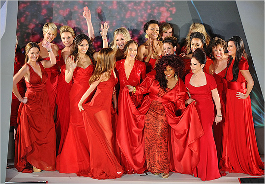 Celebrities at the Heart Truth's Red Dress show 2012