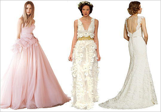 wedding dress trends 2012