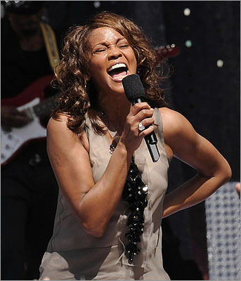 Singer Whitney Houston, who died Feb. 11 at age 48, was renowned for her live performances and the wide vocal ranges that regularly accompanied them. Here is a selection of some of her popular live performances during her career.