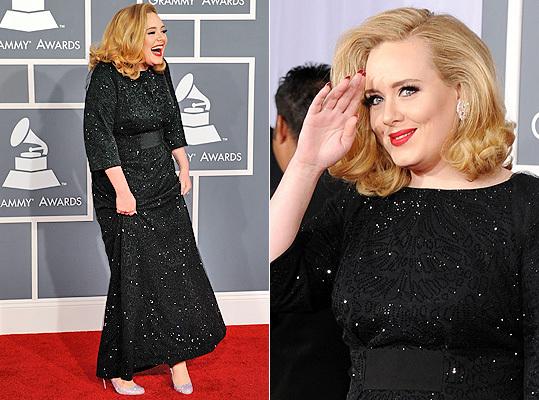 Adele in Armani