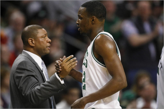 Celtics rookie forward JaJuan Johnson was welcomed back to the bench by head coach Doc Rivers. He had career high 12 points, along with 4 rebounds, 1 assist, 2 steals and a block.