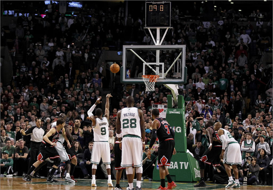 Celtics guard Rajon Rondo hit his second free throw with 9.8 seconds left in the game, bringing Boston's lead to 95-89. Rondo was 10 for 13 from the free throw line and was 4 for 4 from the line in the last 21.5 seconds of the ball game after being intentionally fouled twice.