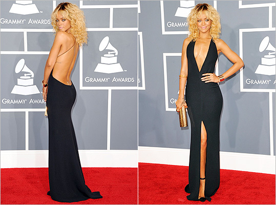 Rihanna in Armani at the Grammys