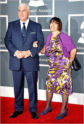 Amy Winehouse family at Grammys