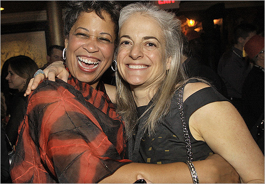 Feb. 11 in Boston From left: Patti Bellinger of Boston and Kate Chertavian of Cambridge.