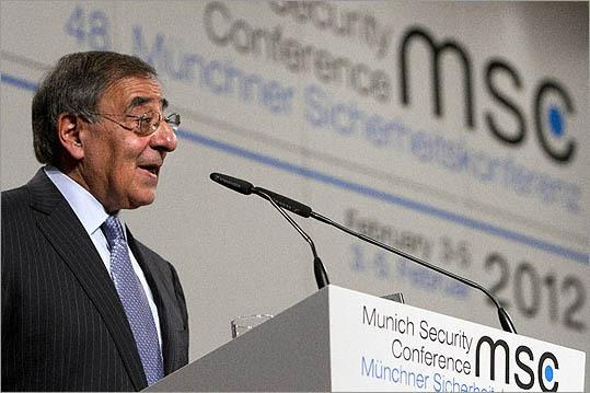 U.S. Defense Secretary Leon Panetta spoke at the Munich Security Conference in Munich on Feb. 4.