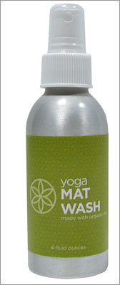 Super Yoga Mat Wash $9.98 @ Gaiam Avoid gym germs and clean the sweat off your yoga mat with this mat wash. We thought this would be a sweet goodie to tuck into a gift basket for a yoga enthusiast.